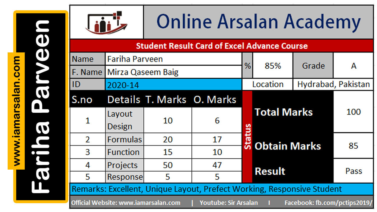 Advance Excel TrainingbySir Arsalan