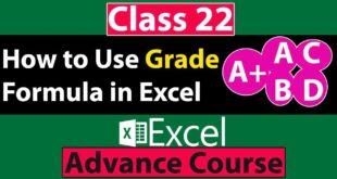 Grade Formula in Excel