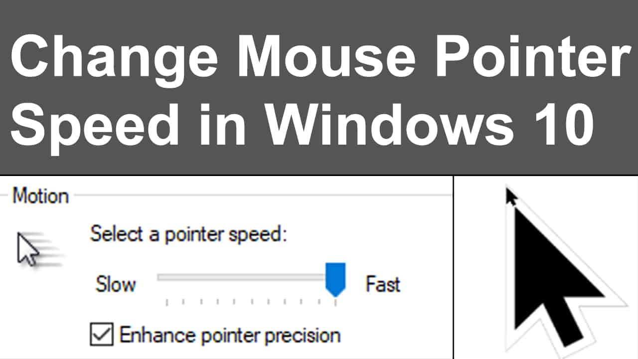 Mouse Pointer Speed