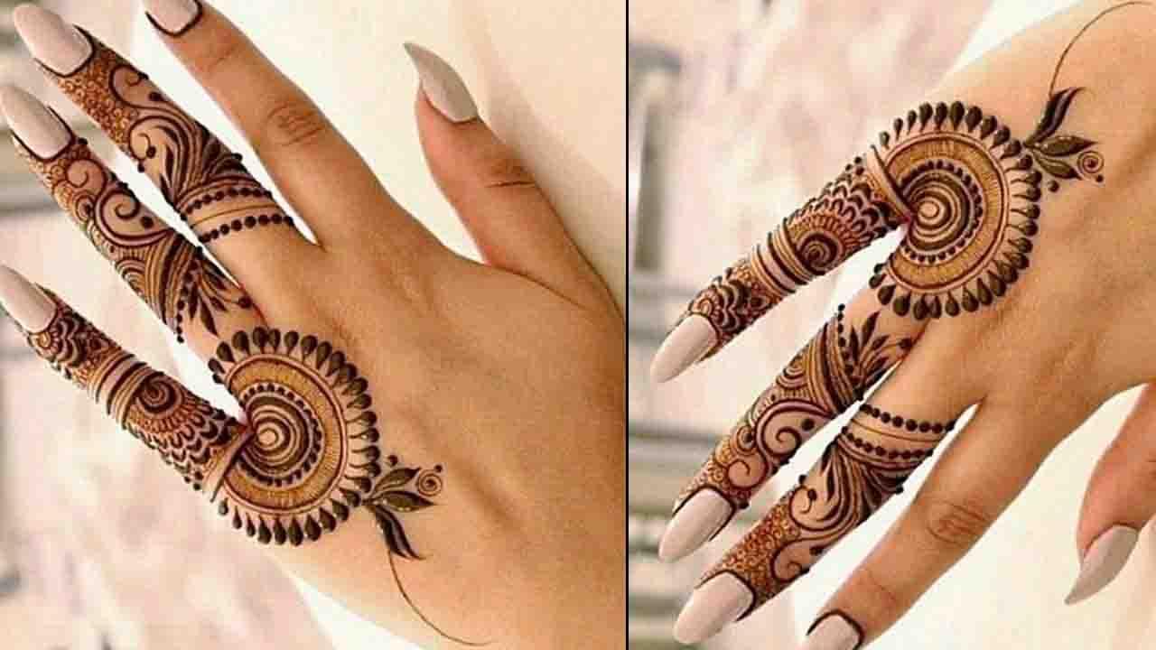 finger mehndi design stylish