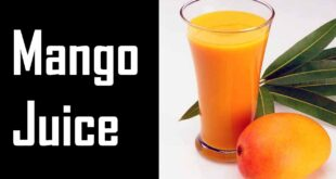 Drinking Mango Juice