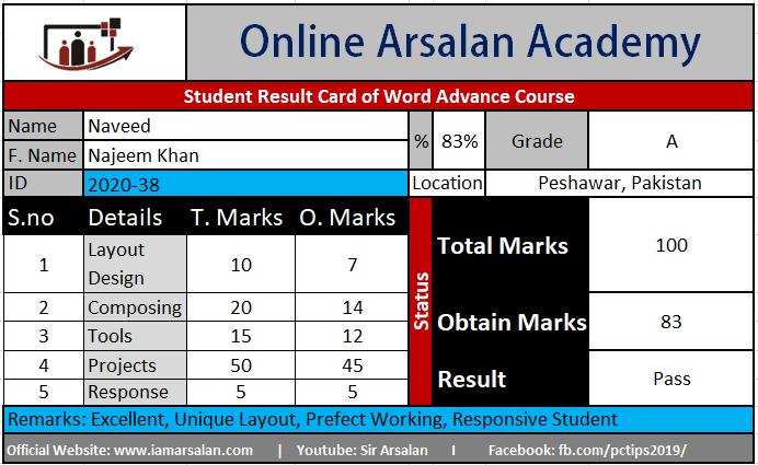 Advance Word Training by Sir Arsalan