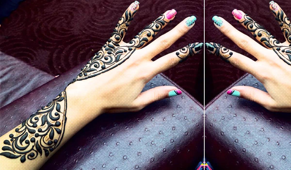 Beautiful Glove Henna Mehndi Designs for Hands