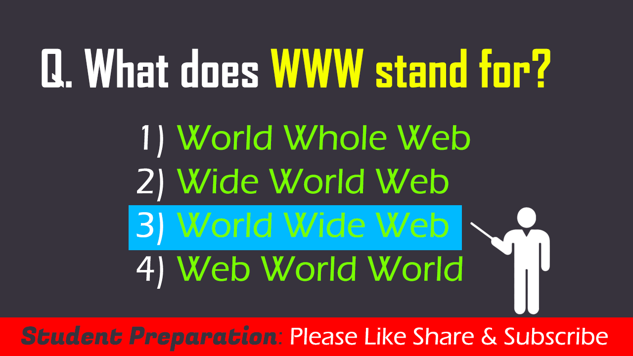 What does WWW stand for (2)