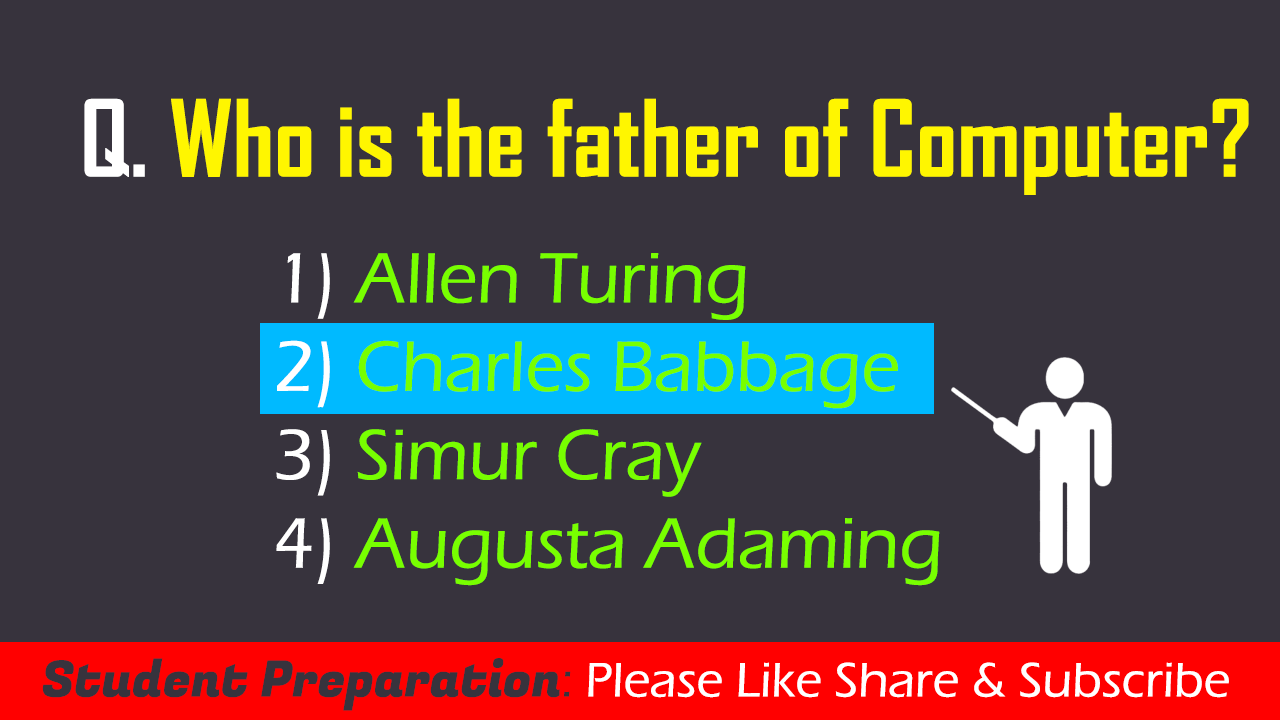 Who is the father of Computer (2)