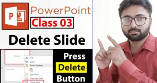 How to Delete PowerPoint Slide in Urdu - Class No 3
