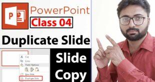 How to Duplicate a Slide in PowerPoint in Urdu - Class 4
