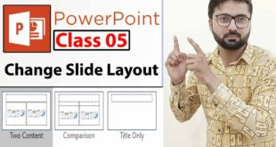 How to Change Slide Layout In PowerPoint - Class 5