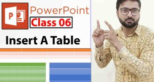 How To Insert A Table In PowerPoint Slide