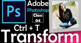 How to use the Photoshop Free Transform mode